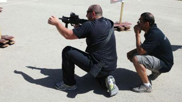 Израильские охранники в центре подготовки M.E. Roy Security & Training Academy