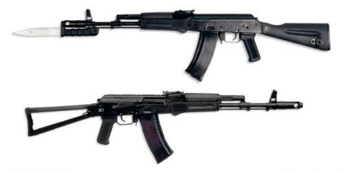 АК74 и АКС74 в черном пластике