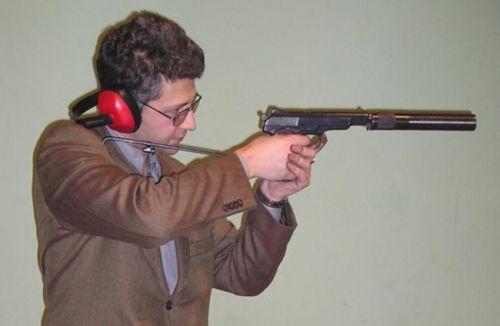 от пистолета и глушителя в