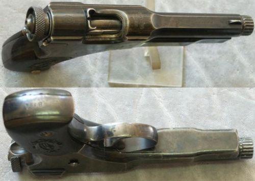 Пистолет построен на