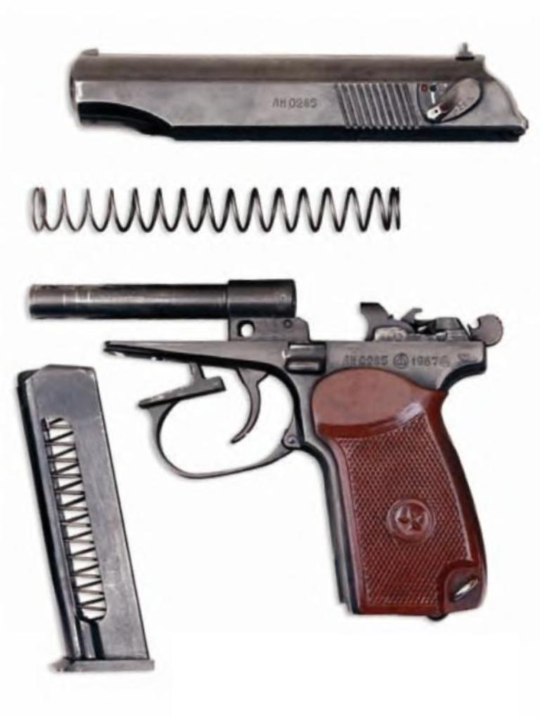 Пистолет был разработан в ЦКБ-14 Н.Ф. Макаровым под 9-мм пистолетный патрон, созданный Б.В. Семиным и Н.М. Елизаровым...